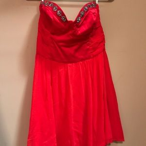 Hot pink with beaded bust special occasion dress